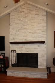 Brick Fireplace Makeover done with a stone plaster and glaze ...