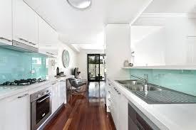 white galley kitchens. White Modern Galley Kitchen With Aqua Glass Designs Peninsula.  Peninsula White Galley Kitchens O