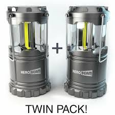 Herobeam Led Lantern 300 Lumen Collapsible Camping Lamp Twin Pack
