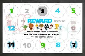 Star Wars Behavior Chart Printable Star Wars Reward Board Instant Download Star Wars