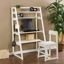 modern office desk furniture fresh furniture design. Modern Varnished Brown Teak Wood Ladder Shelf With Cube Racks Computer Desk Laid On White Glaze Office Furniture Fresh Design