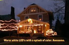 cool christmas house lighting. Warm White LED Christmas Lights Cool House Lighting