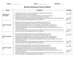 formal outlining notes boston massacre essay rubric