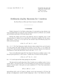 arithmetic duality theorems for motives journal fur die reine  arithmetic duality theorems for 1 motives journal fur die reine und angewandte mathematik crelles journal