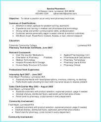 Objective Of Pharmacy Technician On Resume Resume Resume