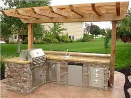 outdoor kitchen ideas plans with green egg