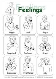 Sign Language Emotions Quick Reference Sheet For Emotions