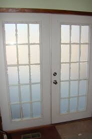 ... Astounding Home Interior Design Using Etched Glass French Doors :  Fabulous Front Door And Home Interior ...
