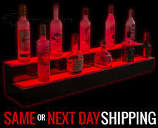 Bar Bottle Display Stand 100 100 Step LED Lighted Back Home Bar Glowing Liquor Bottle Shelf 81