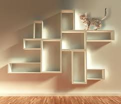 rectangle cube shelf for a cat