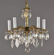 vintage chandelier lighting spanish brass crystal chandelier c1950 vintage antique