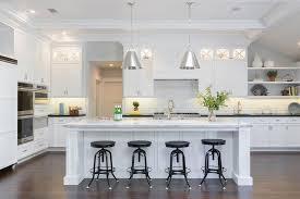 kitchen island with super white quartzite countertop