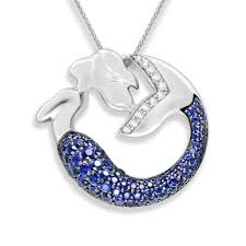 41796 0 jpg 14k white gold mermaid pendant