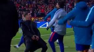 Champions League: Atletico-Trainer Diego Simeone mit irrem Jubel gegen Juve