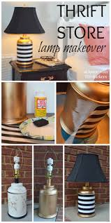 love this lamp thrift lamp makeover gold spray paint mod podge