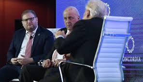 John Negroponte, Eduardo Padron, Nicholas Logothetis, Luis Alberto Lacalle  - Eduardo Padron Photos - 2019 Concordia Americas Summit - Day 2 - Zimbio