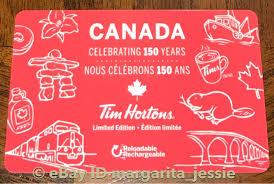 tim hortons gift card canada 150 years 2017 limited edition no value fd56632 ebay