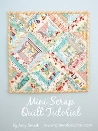 Scrap Quilt Patterns Inspiration Easy Scrap Fabric Quilt Block Diary Of A Quilter A Quilt Blog