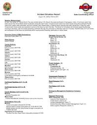 Incident Situation Report Florida Division Of Emergency