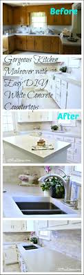 Cheap Kitchen Counter Makeover Gorgeous Budget Kitchen Makeover With White Concrete Countertops