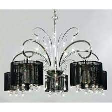 black shade crystal chandelier black shade 5 light chrome chandelier jolie antique black drum shade crystal