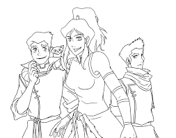 Korra And Friends Coloring Pages For