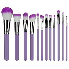 makeup brushes 12 piece set synthetic foundation blending blush powder concealers makeup brush set from topyea