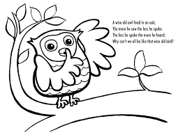 Owl Printable Coloring Pages Free Owl Coloring Pages Accidental