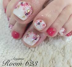 Aoyama Room623さんのネイルデザイン フットネイル 春ネイル