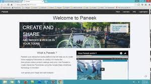 paneek free 360 virtual tour software