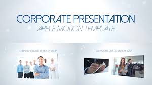 Motion Template Corporate Presentation Apple Motion 5 And Final Cut Pro X