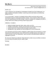 An application letter should be formal and tone of the letter should be respectful. Best Administrative Assistant Cover Letter Examples Livecareer