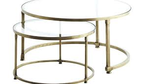 round nesting coffee table black elegant glass tables canada