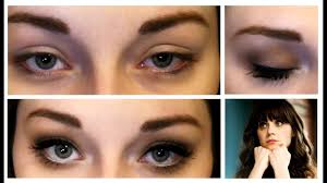 makeup tutorial for bigger eyes inspired by zooey deschanel