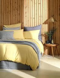 yellow cotton duvet covers at secret linen yellow duvet cover relaxed denim yellow duvet