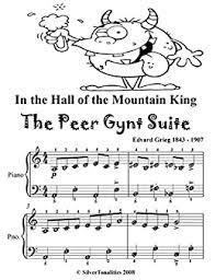 Here's an easy variation of the main theme from in the hall of the mountain king, by edvard grieg. In The Hall Of The Mountain King The Peer Gynt Suite Easy Piano Sheet Music Tadpole Edition Kindle Edition By Grieg Edvard Silvertonalities Arts Photography Kindle Ebooks Amazon Com