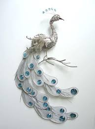 fanciful silver peacock wall art decor metal hanging bird feathers sculpture peaceful carved peacock wall decor