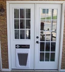 exterior door with window and dog door. replace sliding glass door with dog exterior window and