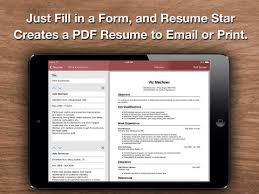 Resume Star  Pro CV Maker and Resume Designer with PDF Output to     iPad Screenshot