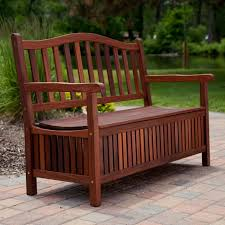 curved back outdoor wood 30 gallon storage bench com