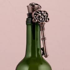 vintage key wine bottle stopper favors