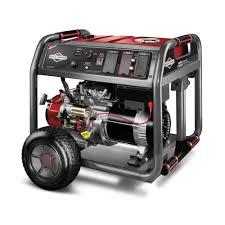 Briggs & Stratton 8,000-Watt Gasoline Powered Key Electric Start ...