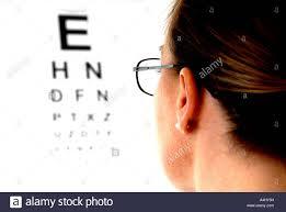 Reading Vision Test Chart Woman Reading Eye Test Chart Stock Photo 11057260 Alamy