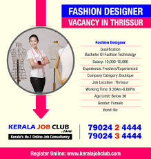 Fashion Designing Boutique Jobs Fashion Designer Vacancy In Thrissur