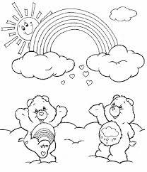Orsetti Con Larcobaleno Disegni Per Bambini Disegni Da Colorare E
