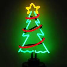 Neonetics Pre-Lit Tree Lamp with Constant Multicolor Neon