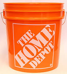 Small Picture The Home Depot 19 L 5 Gal Orange Home Depot Logo Bucket The