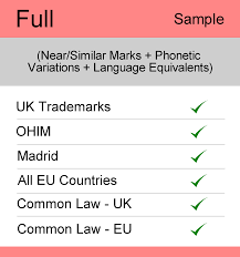 full search uk tm searching sample report the trademark full search uk sample report