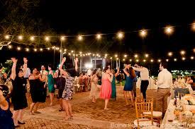 thalatta estate outdoor wedding lighting string lights