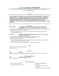 Resume Examples Nursing Stunning Registered Nurse Sample Resume Sample Emergency Room Nurse Resume